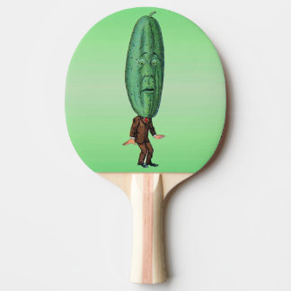 Fantasy Pickle Man Brown Suit Ping Pong Paddle