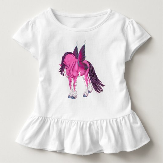 Fantasy Pixie Fairy Clydesdale Horse Toddler T-shirt