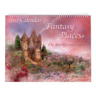 Fantasy Places 2011 Calendar