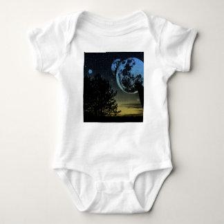 Fantasy planet baby bodysuit