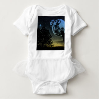 Fantasy planet baby bodysuit