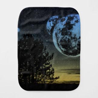 Fantasy planet burp cloth