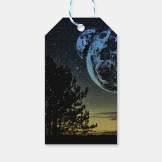 Fantasy planet gift tags
