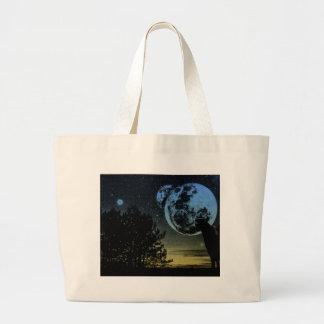 Fantasy planet large tote bag
