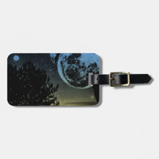 Fantasy planet luggage tag
