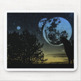 Fantasy planet mouse pad