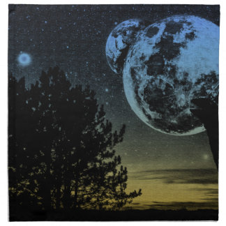 Fantasy planet napkin