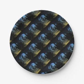 Fantasy planet paper plate