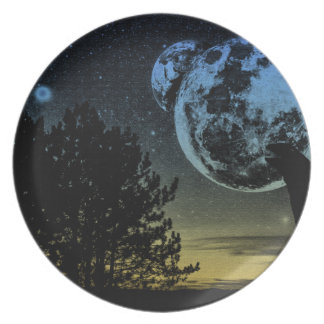 Fantasy planet plate