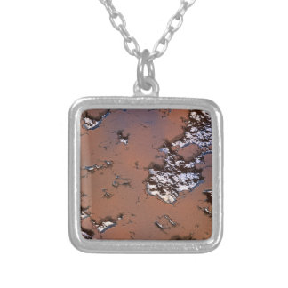 fantasy planet surface 1 silver plated necklace