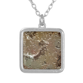 fantasy planet surface 2 silver plated necklace