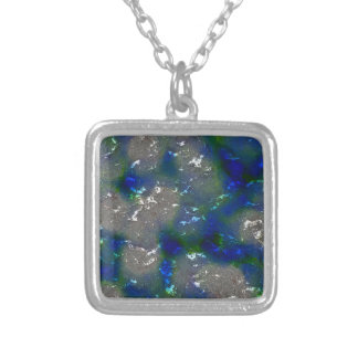 fantasy planet surface 3 silver plated necklace