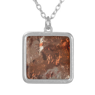 fantasy planet surface 5 silver plated necklace