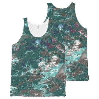 fantasy planet surface 6 All-Over-Print tank top