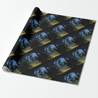 Fantasy planet wrapping paper
