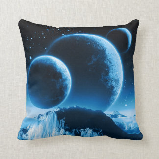 Fantasy Planets Throw Pillow