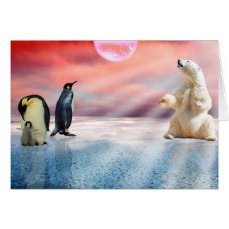 Fantasy Polar Bear Card
