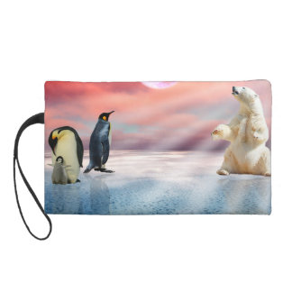 Fantasy Polar Bear Wristlet Clutches