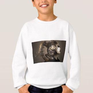 Fantasy Portrait Surreal Woman Helm Clock Sweatshirt