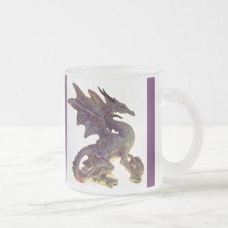 Fantasy Purple & Gold Dragon Glass Mug