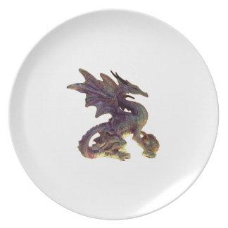 Fantasy Purple & Gold Dragon Plate