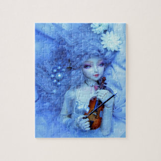 Fantasy Puzzle of Woman in Blue