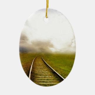 Fantasy railroad ceramic ornament