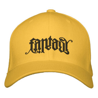 Fantasy/Reality Ambigram Lid Embroidered Hats