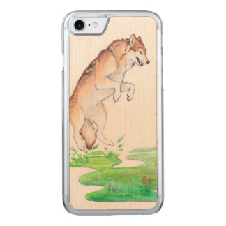 Fantasy Red Brown Meadow Plant Creation Wolf Carved iPhone 7 Case