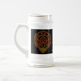 Fantasy Red Greek Warrior's Spartan Stein