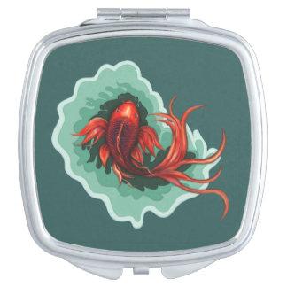 Fantasy Red Koi Karp Compact Compact Mirror
