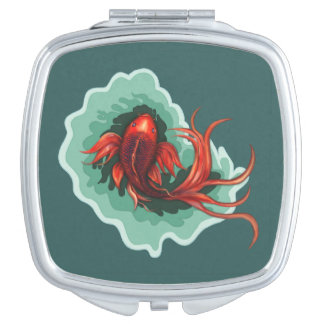Fantasy Red Koi Karp Compact Travel Mirrors