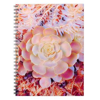 Fantasy salmon pick natural rosette note book