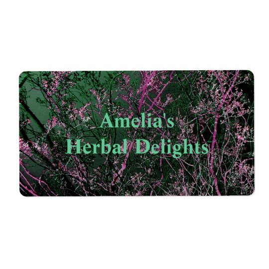Fantasy scenery kitchen labels for your text