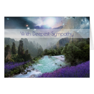 Fantasy Scenic Nature Landscape Sympathy Greeting Card