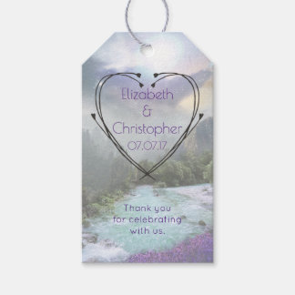 Fantasy Scenic Nature Landscape Wedding Thanks Pack Of Gift Tags
