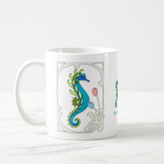 Fantasy Seahorses to Personalize Coffee Mug