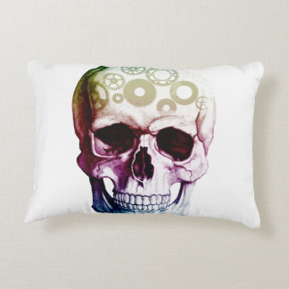 Fantasy Skull Tattoo Decorative Pillow