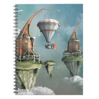 Fantasy sky abode spiral notebooks