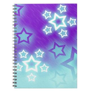 Fantasy Stars Palm Silhouette Sky Background Notebook