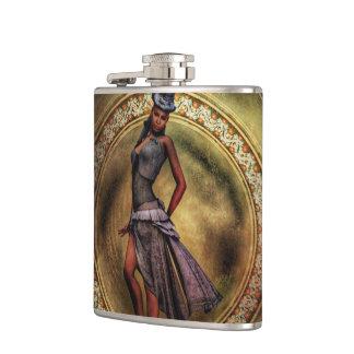 fantasy Steampunk Lady B Hip Flask