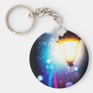 Fantasy Street Lamp 2 Basic Round Button Keychain