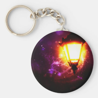 Fantasy Street Lamp Basic Round Button Keychain