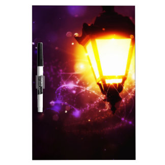 Fantasy Street Lamp Dry Erase Board
