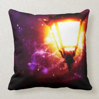 Fantasy Street Lamp Throw Pillow