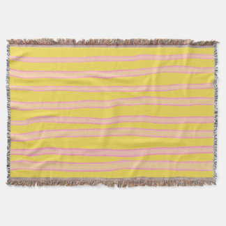 Fantasy striped pattern throw blanket