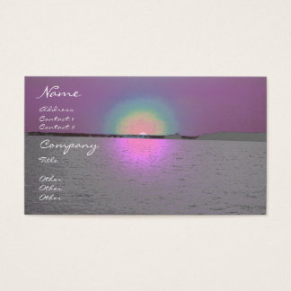 Fantasy Sunset - business card template