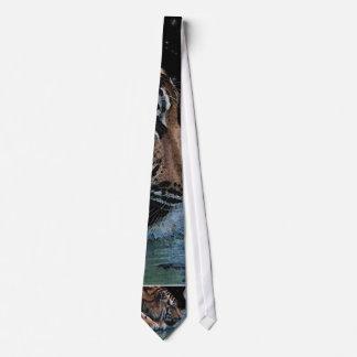Fantasy Tiger & Moon Tie