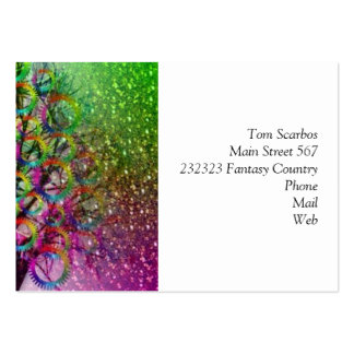 Fantasy tree pack of chubby business cards