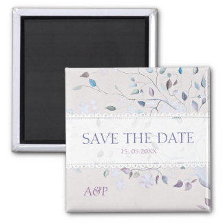 Fantasy Tree Wedding Save the Date favor Magnet